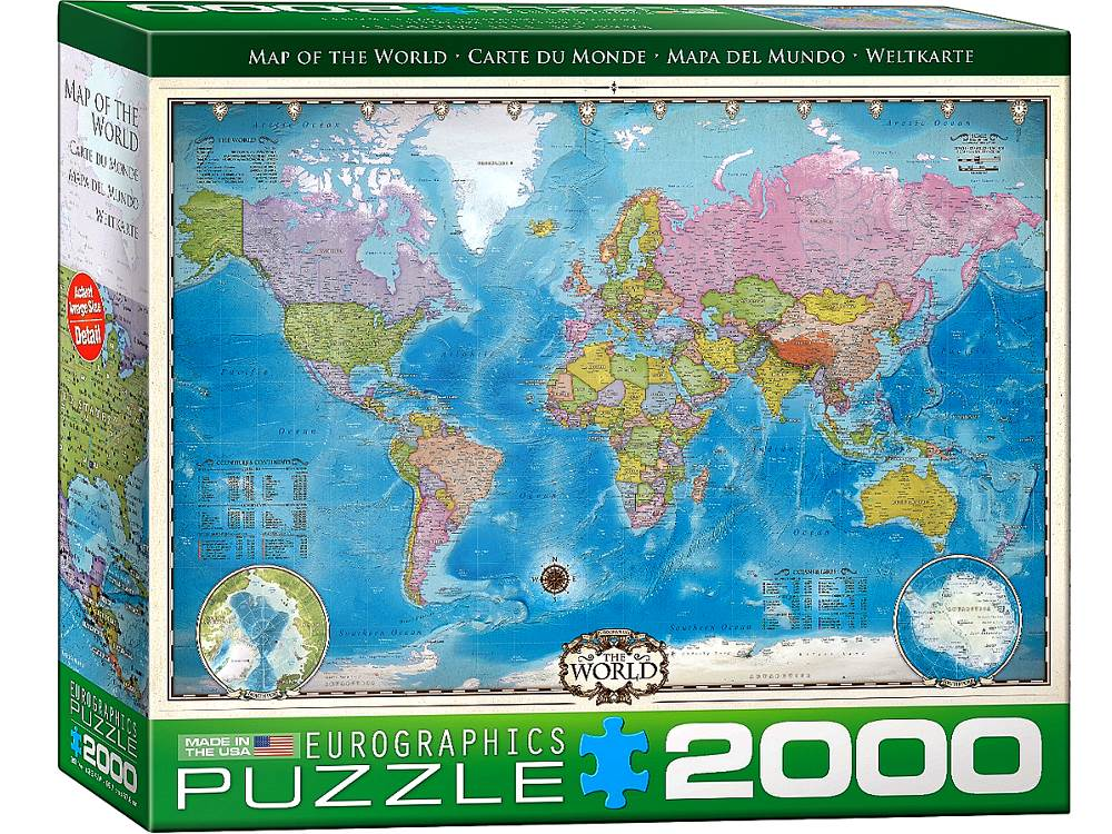 MAP OF THE WORLD 2000pc