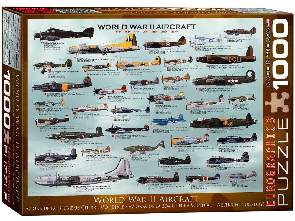 WWII AIRCRAFT 1000pc