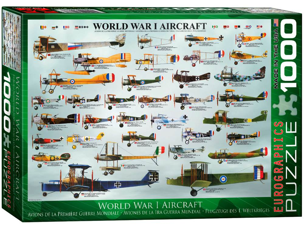 WWI AIRCRAFT 1000pc