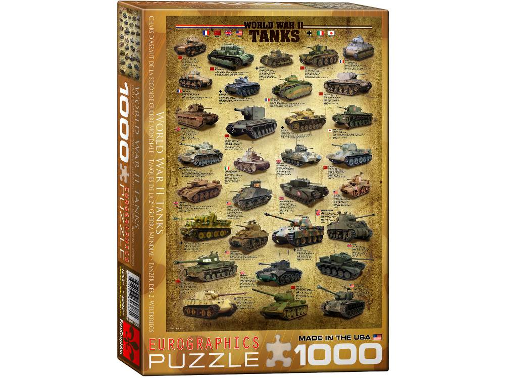 WORLD WAR II TANKS 1000pc