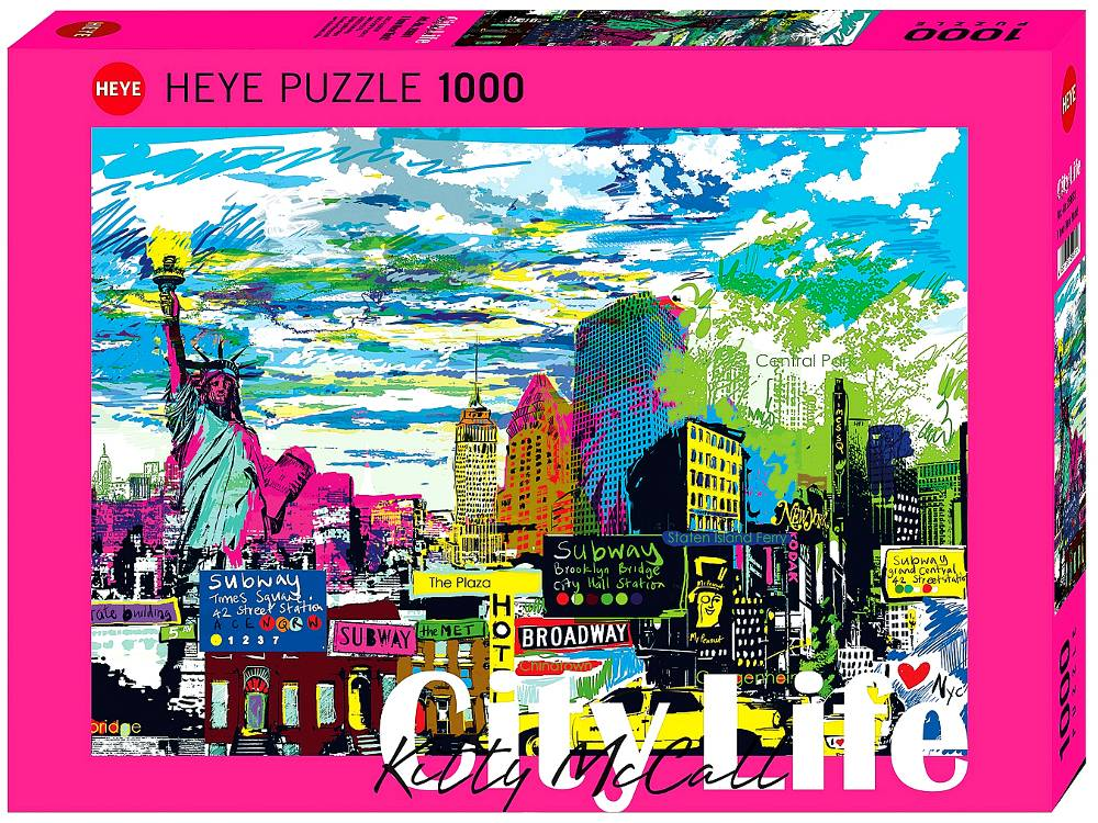 CITY LIFE, I LOVE NY 1000pc