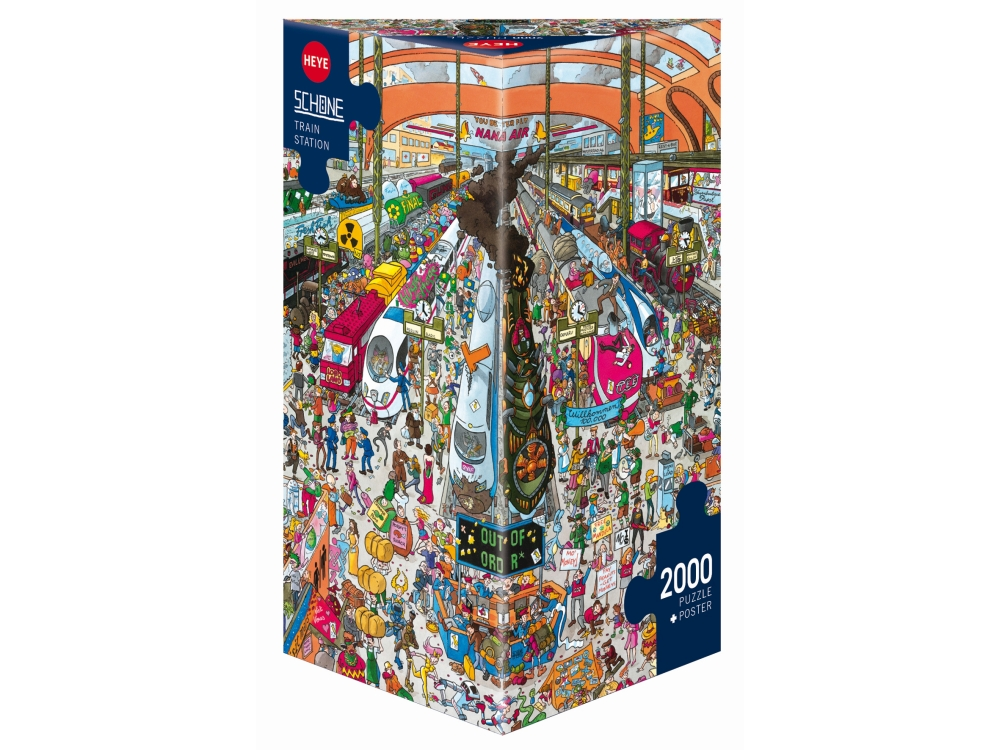 SCHONE, TRAIN STATION 2000pc