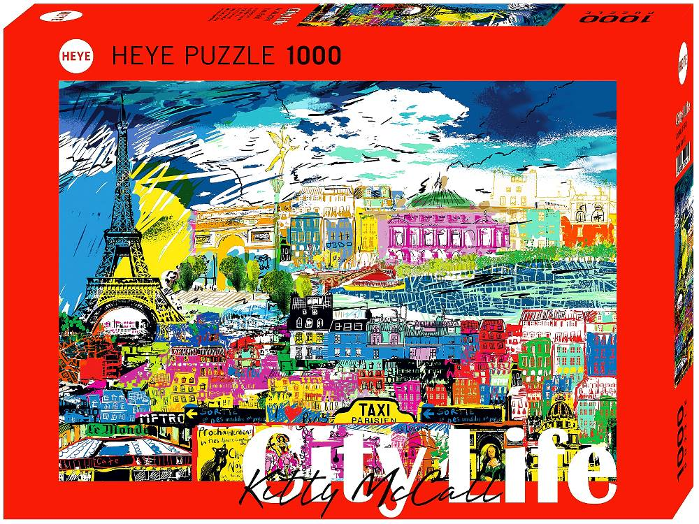 CITY LIFE, I LOVE PARIS 1000pc
