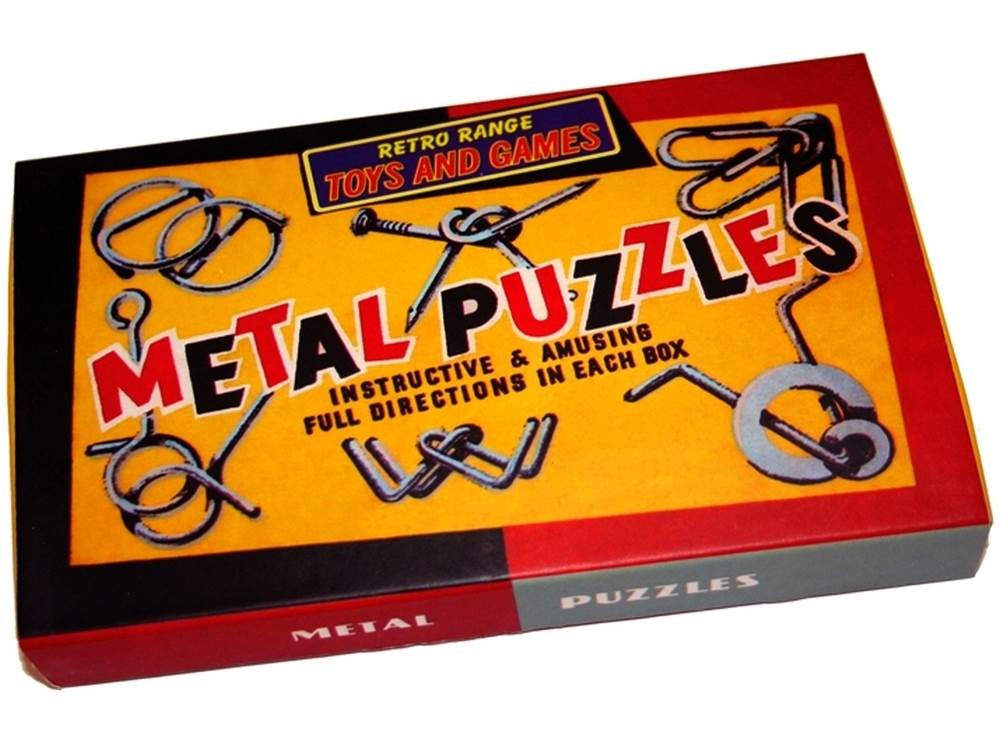 RETRO 6 METAL PUZZLE SET