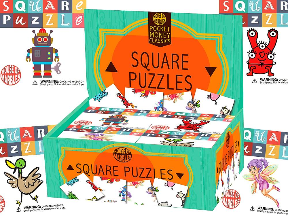 SQUARE PUZZLES Display of 60