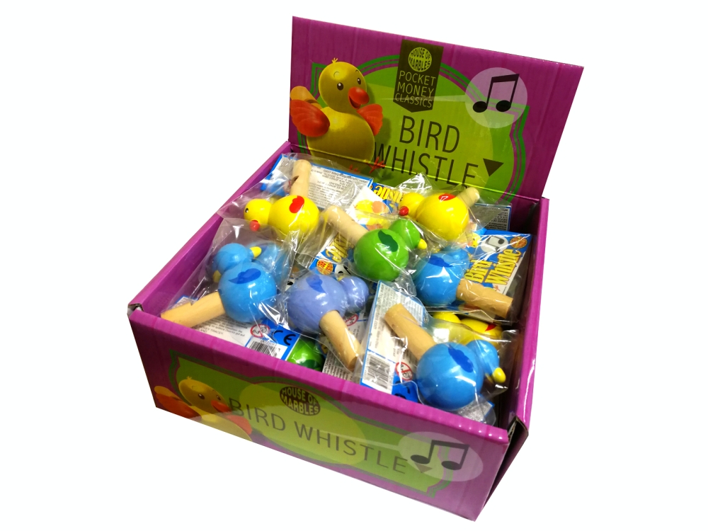 BIRD WHISTLES Display of 30