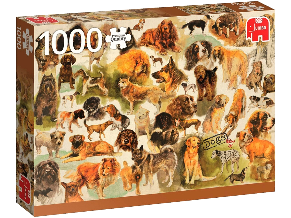 DOGS POSTER 1000pcs
