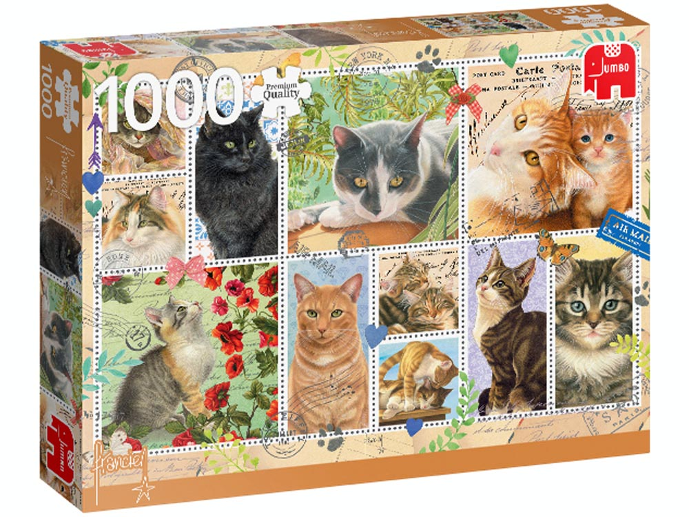 CAT STAMPS 1000pc