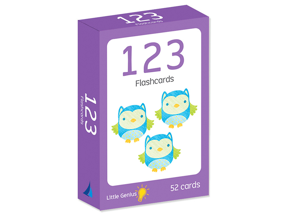 123 FLASHCARDS LITTLE GENIUS