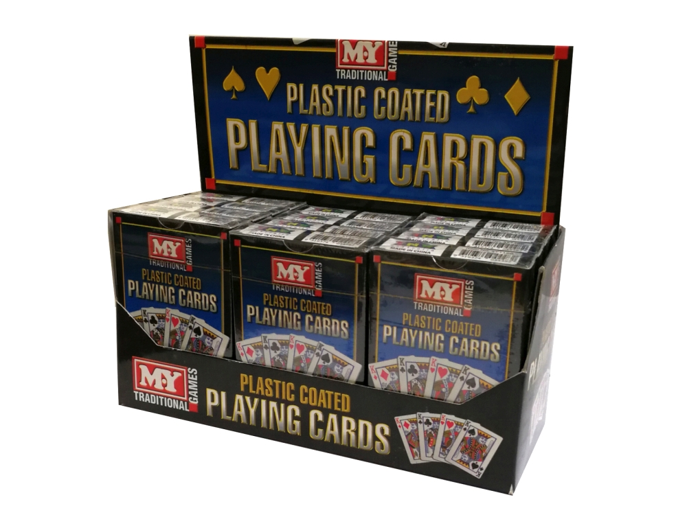 PLAYING CARDS (12) PLASTIC CTD