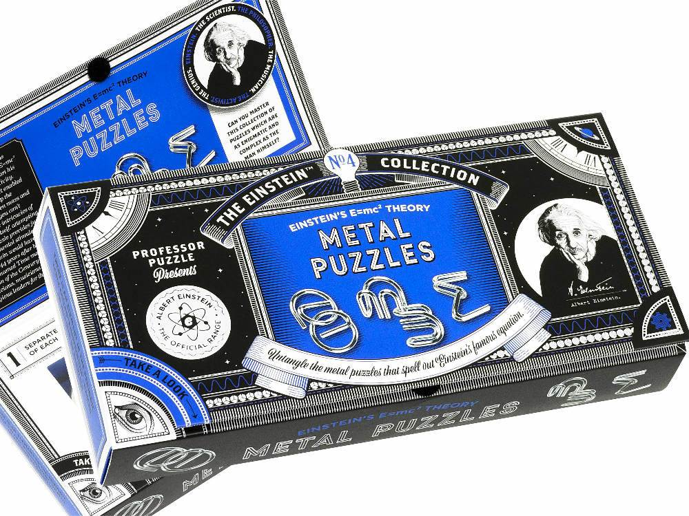 EINSTEIN'S E=MC2 METAL PUZZLES