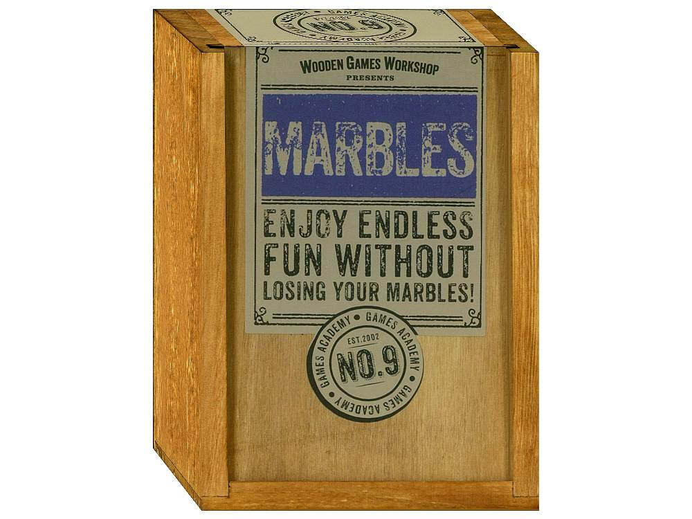 GAMES ACADEMY MARBLES WOOD BOX
