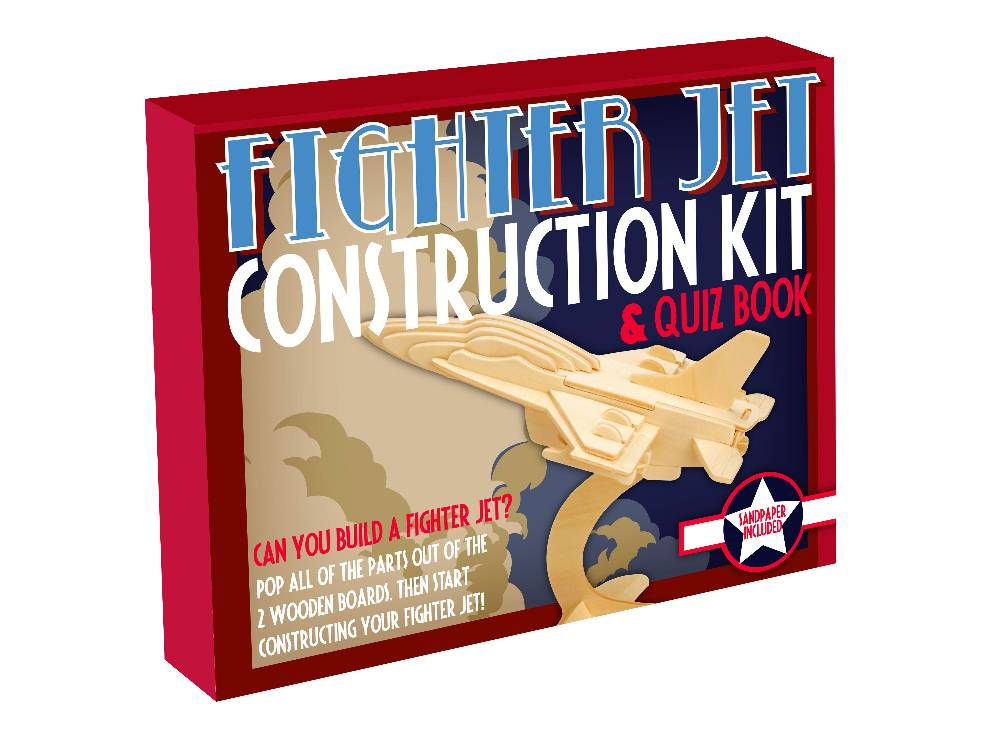 WOODEN CONSTR.BOXED JET FIGHTR