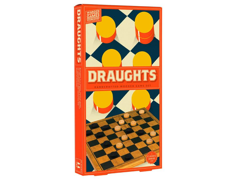 WOOD GAMES W/SHOP DRAUGHTS