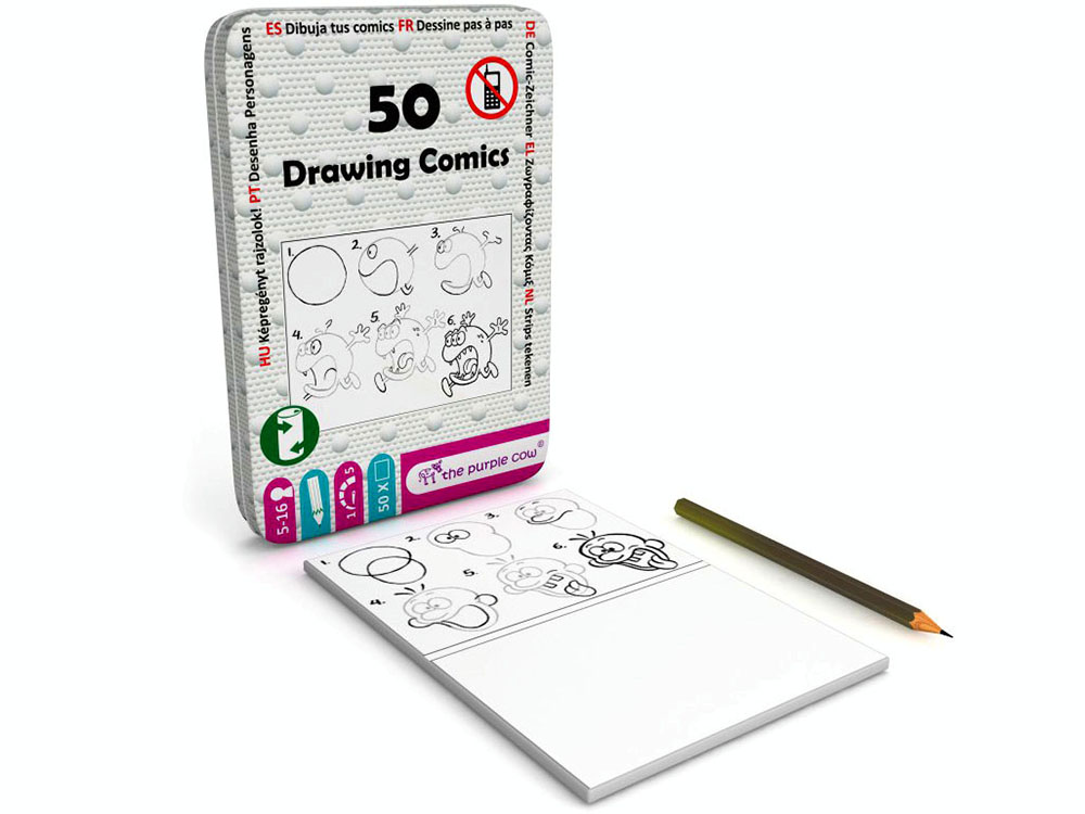 50 DRAWING COMICS, Tin