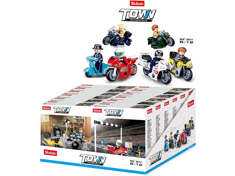 TOWN MOTORCYCLES Display of 12