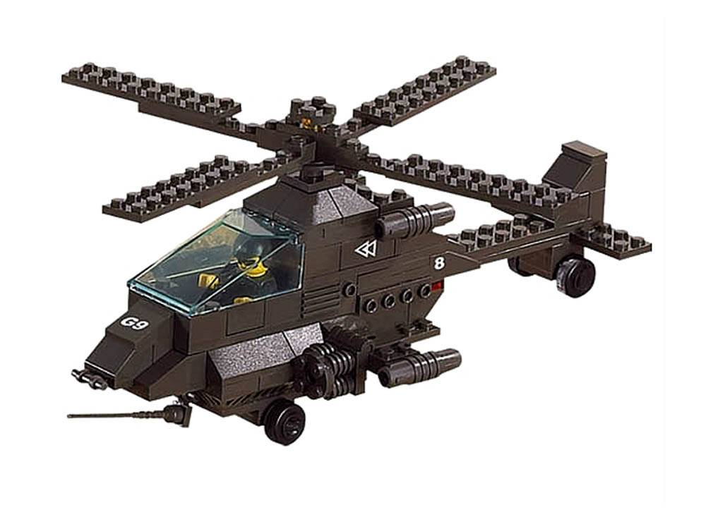 ARMY APACHE HELICOPTER 158pcs
