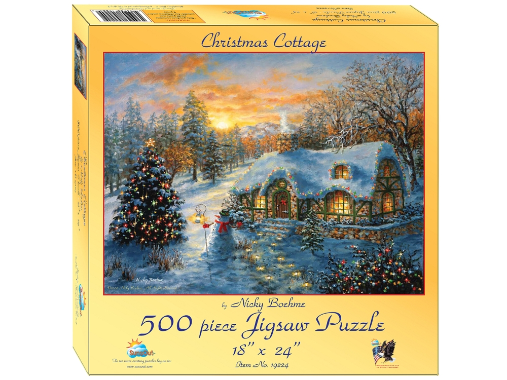 CHRISTMAS COTTAGE 500pc