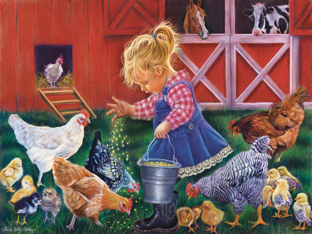 LITTLE FARM GIRL 500pc