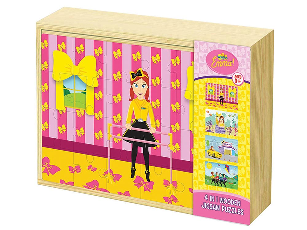 WIGGLES EMMA 4-in-1 WOODEN PUZ
