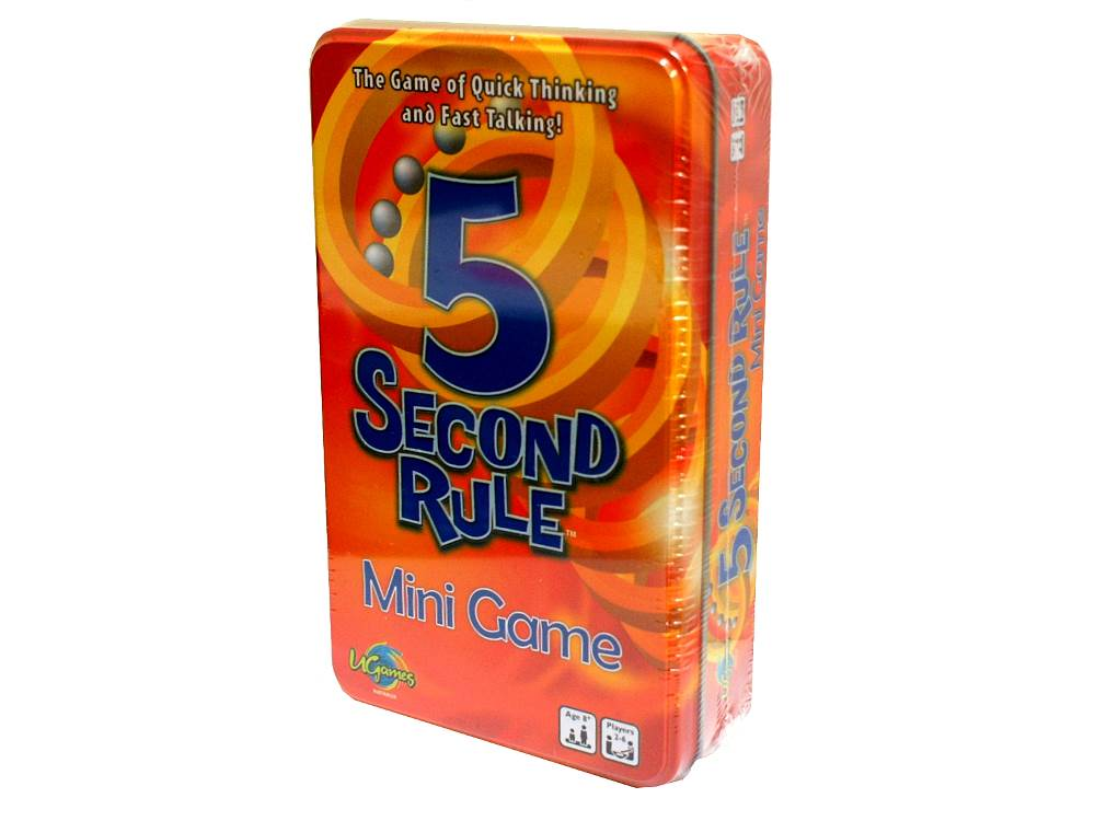 5 SECOND RULE CARD GAME (TIN)