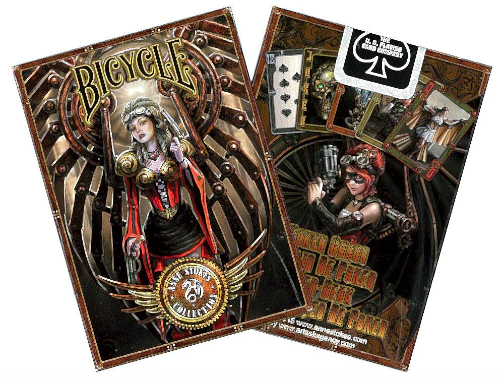 BICYCLE POKER STOKES STEAMPUNK