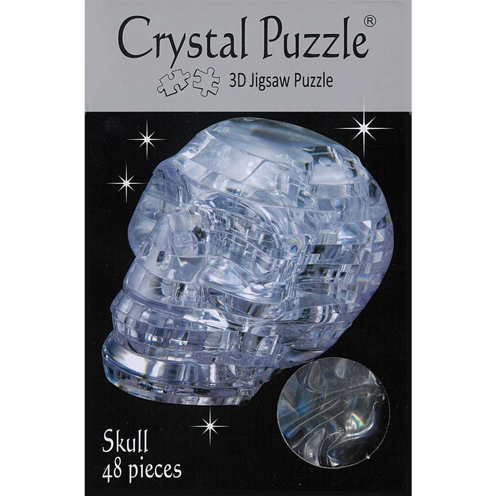 3D SKULL,CLEAR, CRYSTAL PUZZLE
