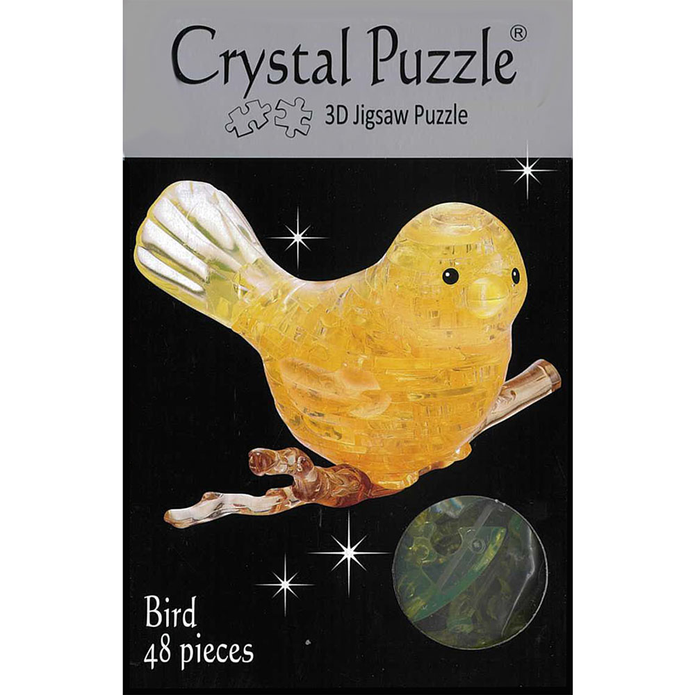 3D YELLOW BIRD CRYSTAL PUZZLE