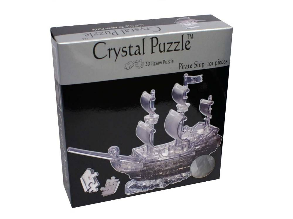 3D PIRATE SHIP CRYSTAL PUZZLE