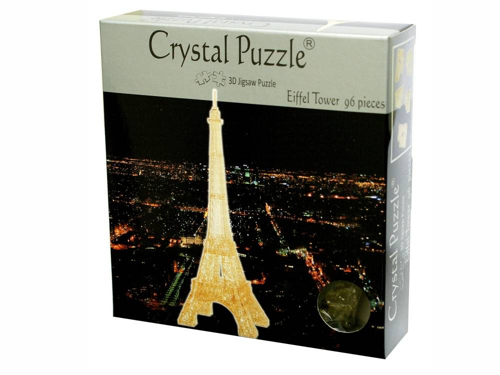 3D EIFFEL TOWER CRYSTAL PUZZLE
