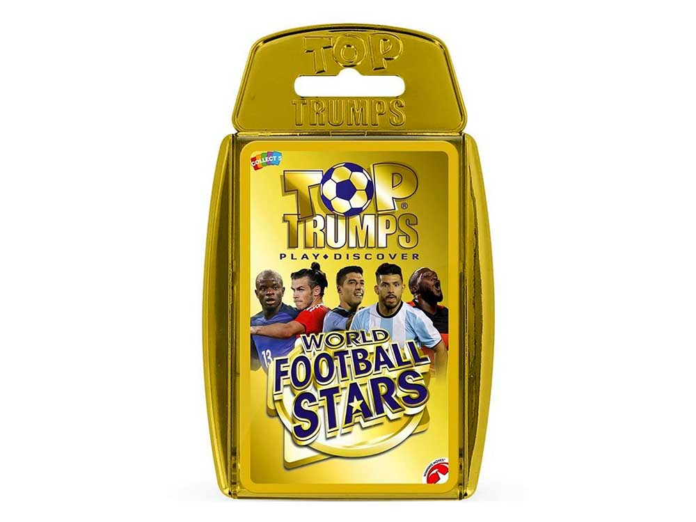 TOP TRUMPS WORLD FOOTBALL STAR