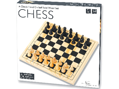 CHESS SET, SOLID WOOD 29cm