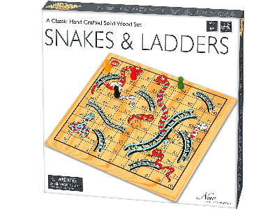 SNAKES & LADDERS, SOLID WOOD