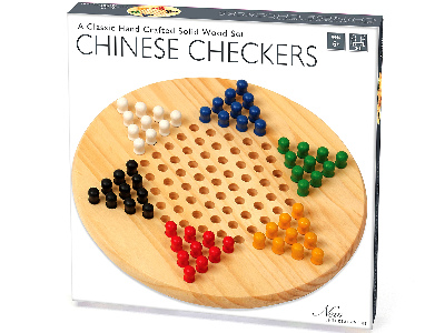 CHINESE CHECKERS, SOLID WOOD