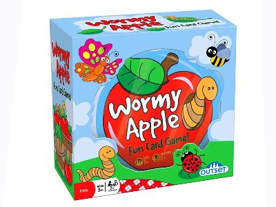 WORMY APPLE Card Game in Tin