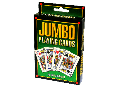 JUMBO PLAYING CARDS, PLASTIC