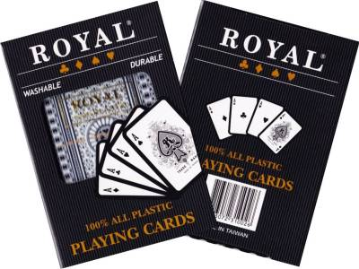 ROYAL 100% PLASTIC SINGLE DECK