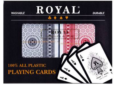 ROYAL 100% PLASTIC DOUBLE DECK