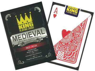 MEDIEVAL POKER 100% PLAS.RED