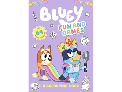 BLUEY FUN & GAMES COLOURING