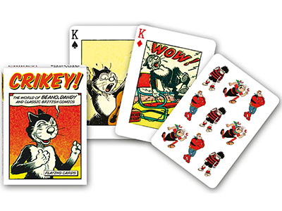 CRIKEY VINTAGE COMIC ART POKER