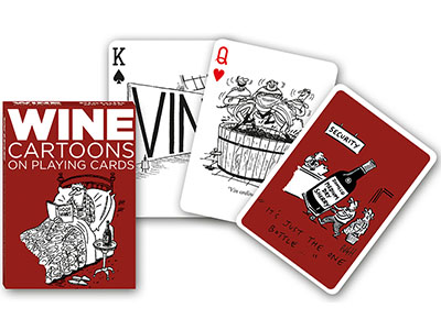 WINE CARTOONS POKER