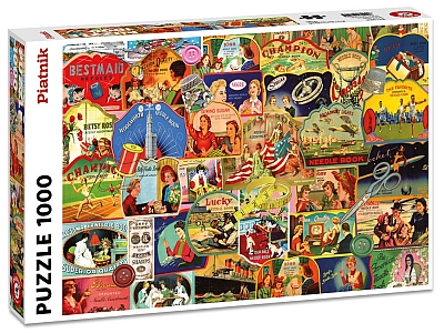 VINTAGE ADVERTISEMENTS 1000pc