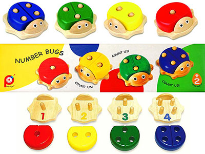 NUMBER BUGS (Set of 4)
