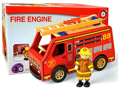 FIRE ENGINE w/FIREMAN
