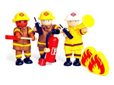 FIREFIGHTERS (11cm),Set of 3