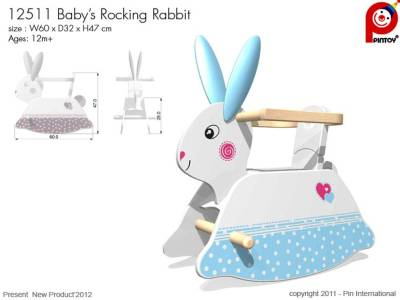 TODDLERS ROCKING RABBIT