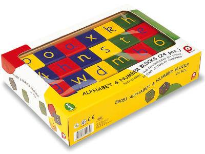 ALPHABET & NUMBER BLOCKS(24pc)