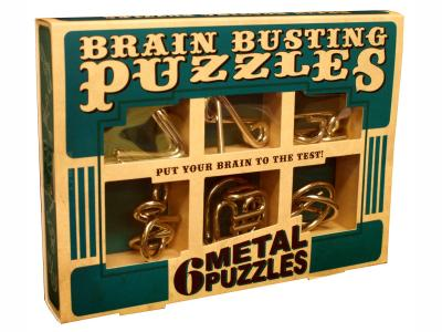 BRAIN BUSTING SET OF 6 METAL