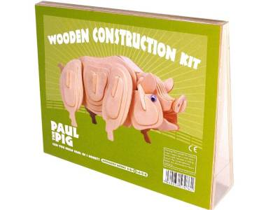 WOODEN CONSTRUCTION PAUL PIG